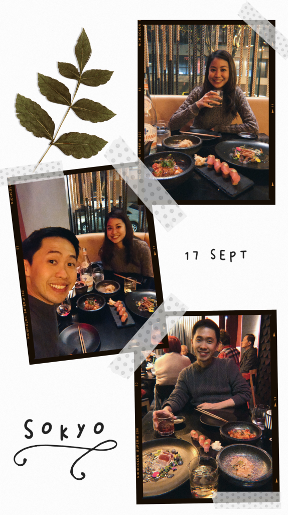 sokyo birthday dinner